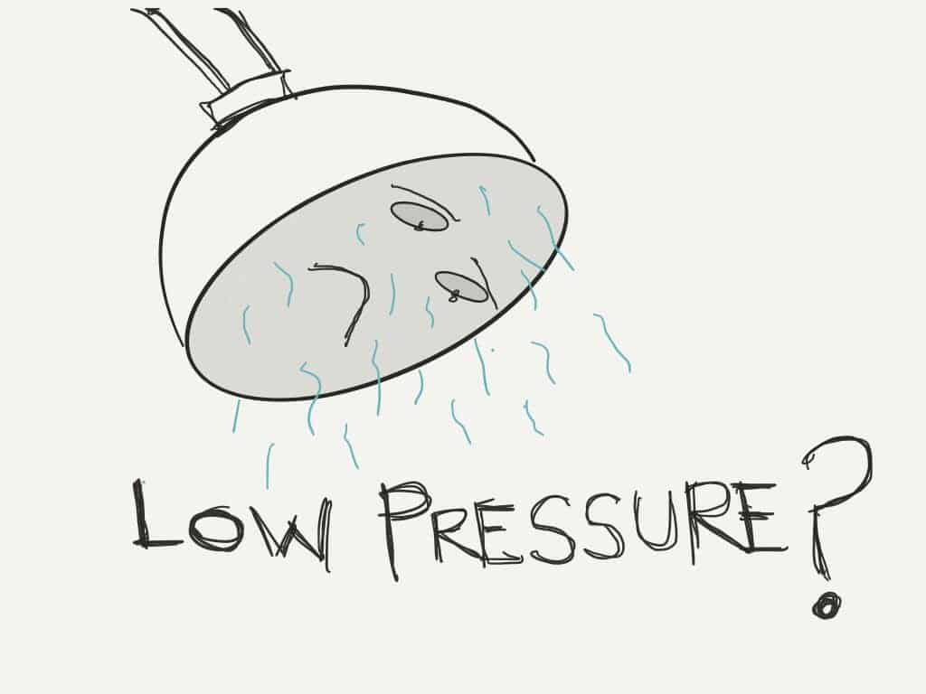 low shower water pressure