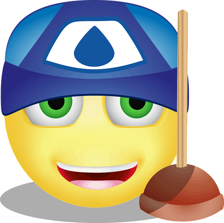 Plumber emoji with plunger