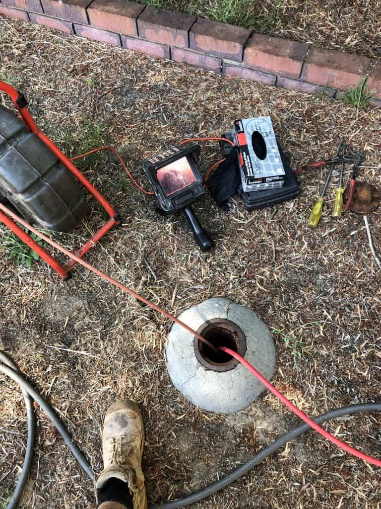Plumbing blocked drain
